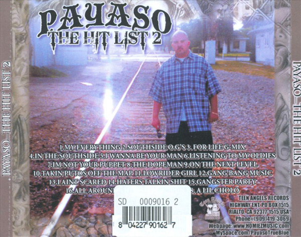 Payaso - The Hit List 2 Chicano Rap